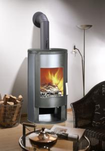 HoutkachelRona staal grijs 8 KW
